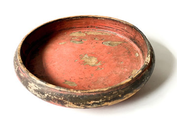 LATE 19TH CENTURY RED LACQUER FOOD BOWL