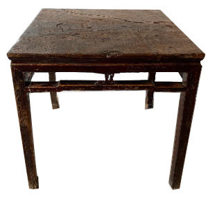 LATE 18TH CENTURY TALL SQUARE WOOD TABLE FROM ASIA