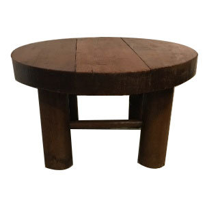 MID 20TH CENTURY MODERNIST COFFEE TABLE IN STYLE OF CHARLOTTE PERRIAND