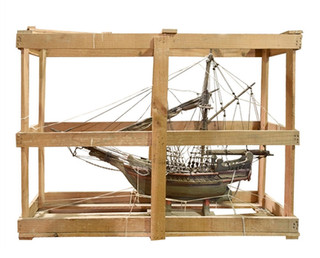 20th Century Ship in Crate
