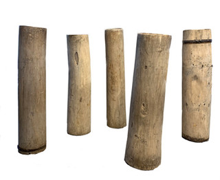 Collection of early 20th Century Bleached Turkish Butter Churns