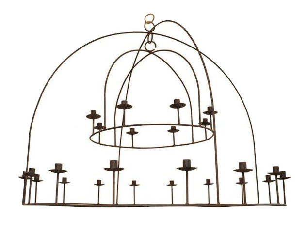 21st Century 2-Tier Candelabra Candlelier by Michael Del Piero (Can be electrified)