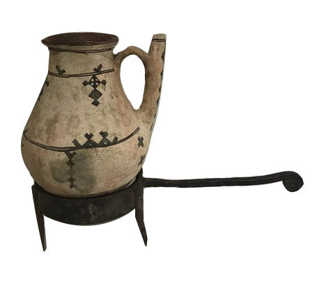 NORTH AFRICAN WATER PITCHER / HAND-PAINTED