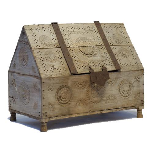19th Century Weathered Wood Cash Box
