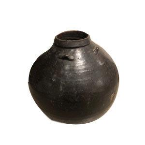 JAPANESE GLAZED CERAMIC JAR (EDO PERIOD)