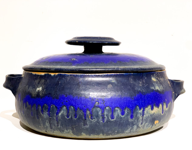 Mid-Century Ceramic Soup Pot w/Lid From Japan