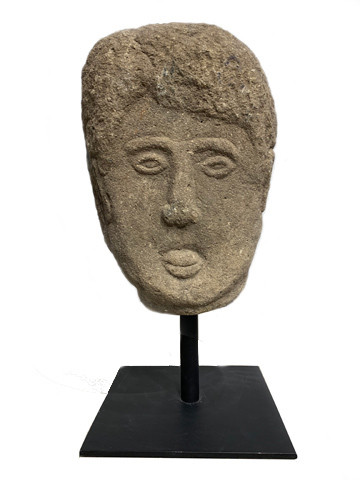 Early 19th Century English Stone Head on Stand