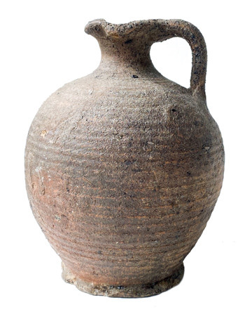 19th Century Primitive Vessel w/ Handle and Spout From Persia