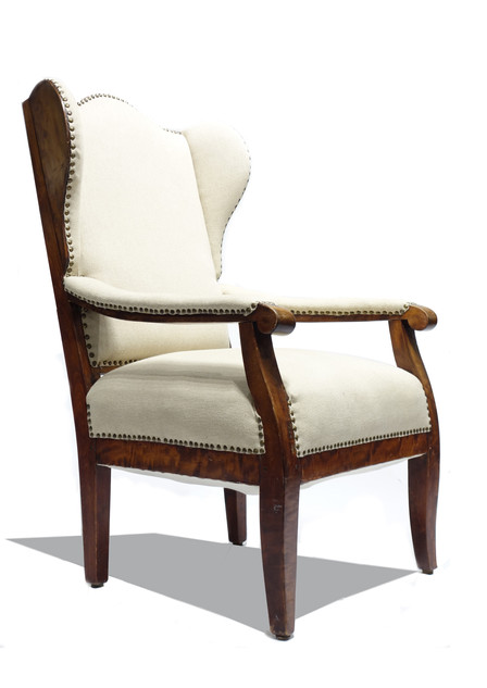 19th Century Biedermeier Wing Chair
