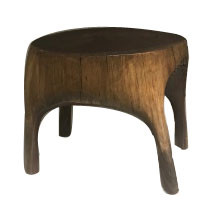 21st Century Hand Carved Walnut Stool by Artist Ian Love