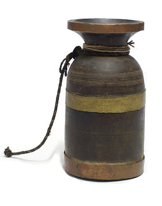 20TH CENTURY NEPALESE WOODEN MILK PAIL