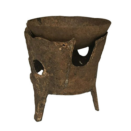 1920'S CHINESE RUSTY CANDLEHOLDER WITH HOLES
