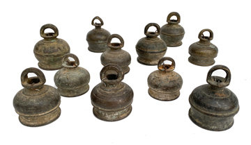 Late 18th Century Tibetan Bronze Bells
