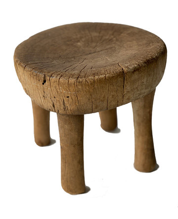 Early 20th Century Small African Stool (Light Wood)