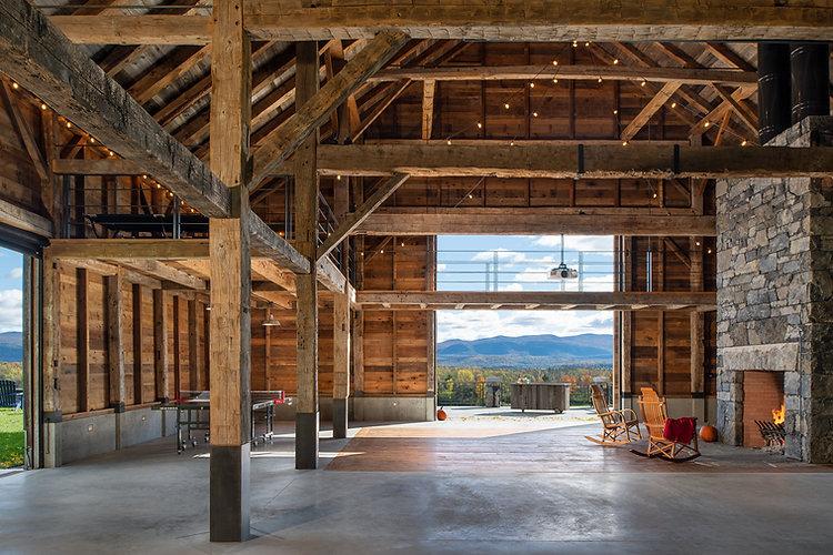 antique timber framed barn
