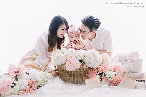 Pretty in pink set up for Lye Yin & Family portrait session