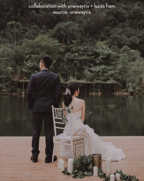 Still reliving this surreal engagement set up beside the lake 🍃