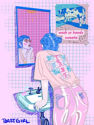 wash your hands sweetie