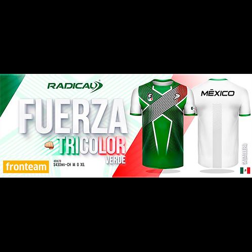 "Playera Radical ""Fuerza Tricolor"" Verde Caballero"