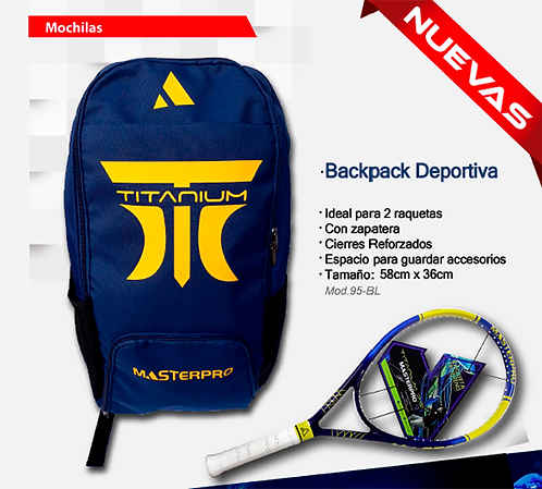 "Back Pack ""Titanium"" Master Pro"