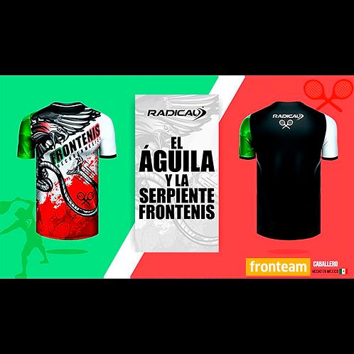 """Playera Radical """"Águila y Serpiente, Frontenis"""""""
