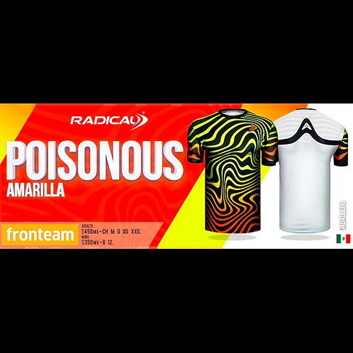 "Playera Radical ""Poisonous"" Amarilla"