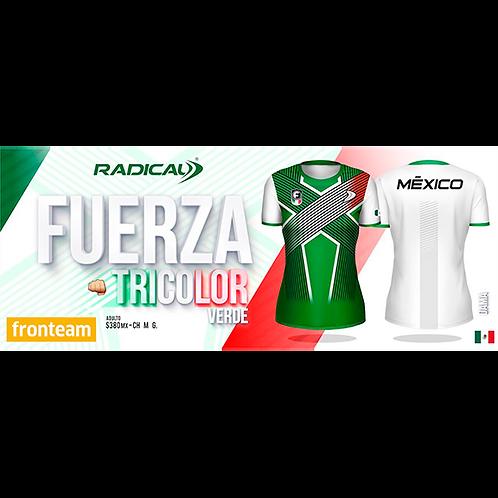 "Blusa Radical ""Fuerza Tricolor"" Verde Dama"