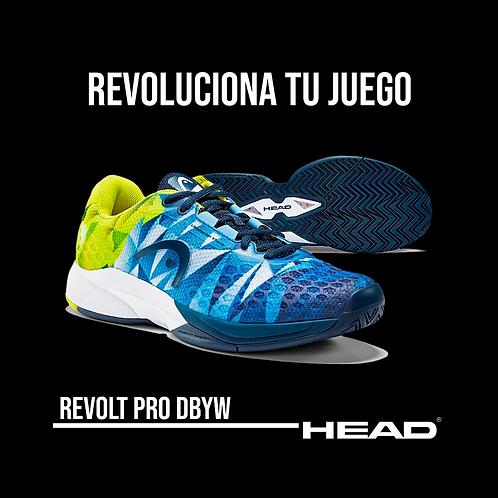 """Zapatillas Head """"Revolt Pro 3.0"""" Amarillas"""