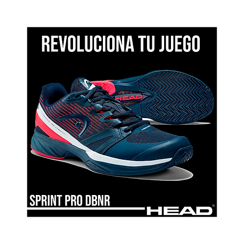 "Zapatillas Head ""Sprint Pro 2.5"" Azul Marino"