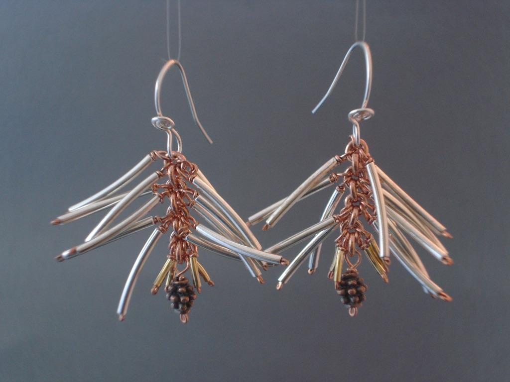 fir twig earrings
