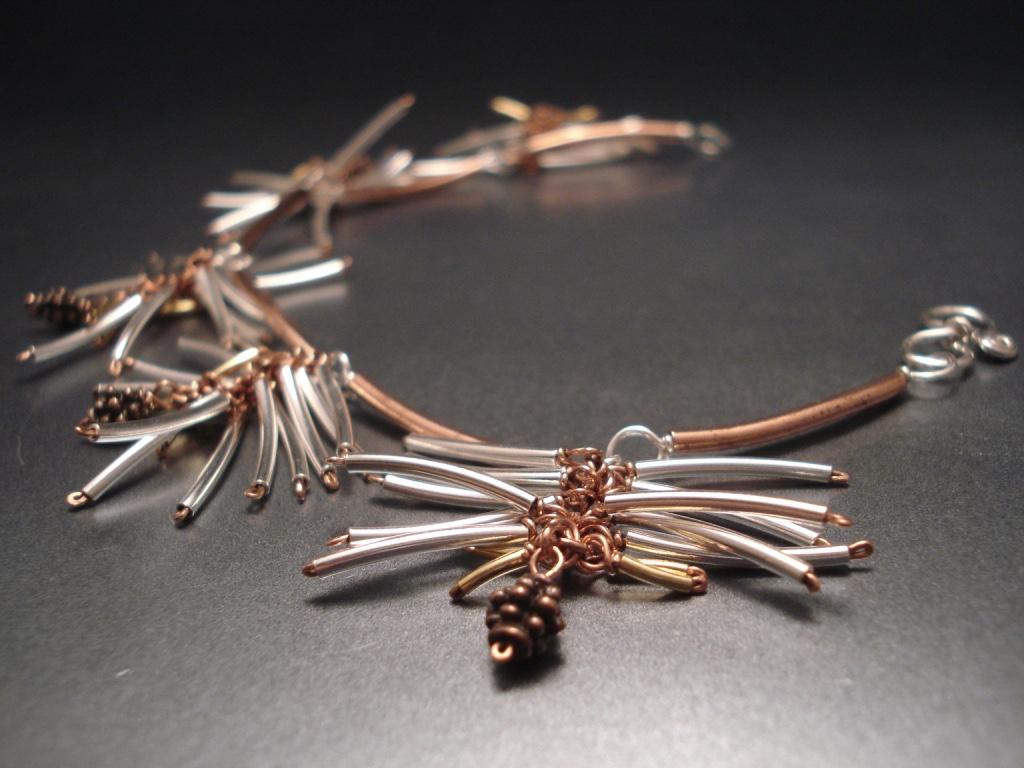 fir twig bracelet/necklace