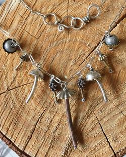 Tiny Mushroom Necklace
