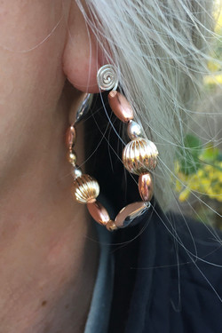 Seed Hoop Style Earrings Large