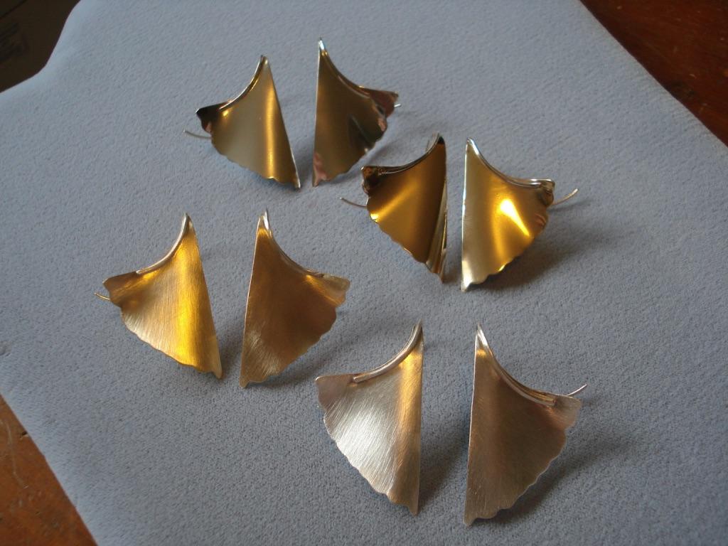 Ginkgo Earrings, large $48
