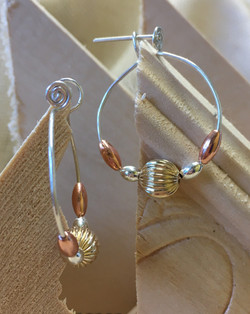 Seed Hoop Style Earrings