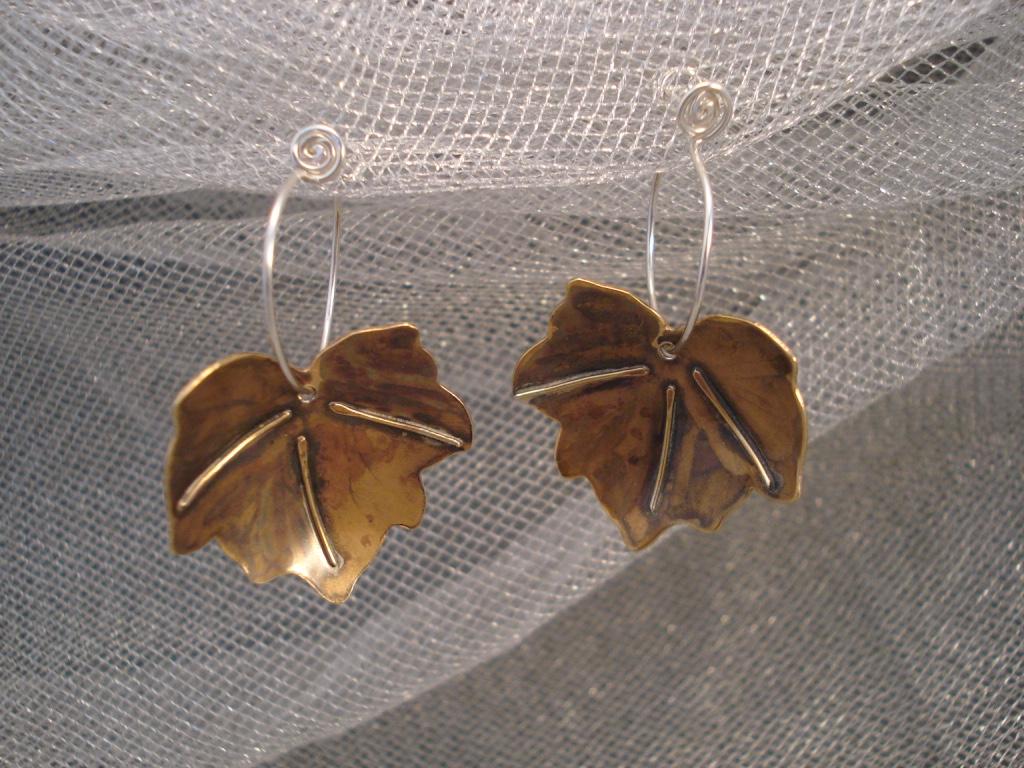 Ivy Leaf Earrings, large $58