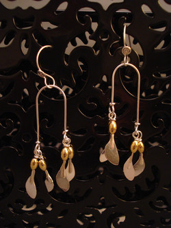 Maple Seed Earrings, large $48