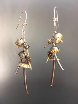 Mushroom Earrings Multi