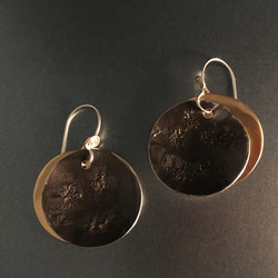 small solar eclipse earrings