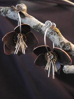 Hellebore Flower Earrings