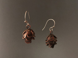 hemlock pine cone earrings
