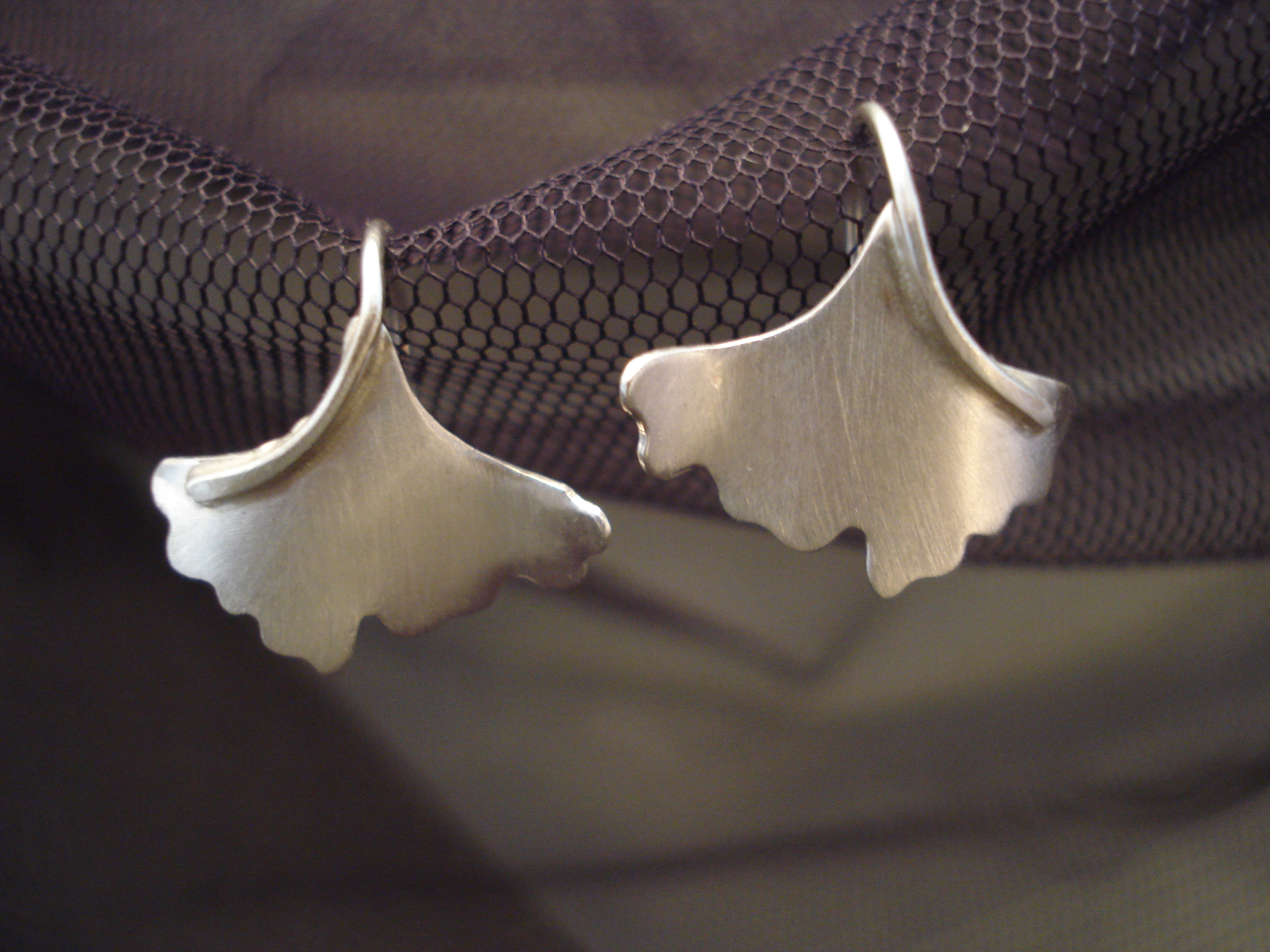 small ginkgo earrings