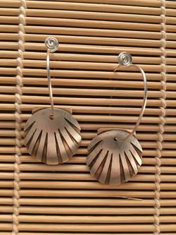 Scallop Shell Earrings $48
