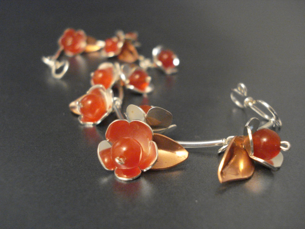 cherry blossom bracelet/neck