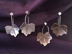 large ivy leaf earrings
