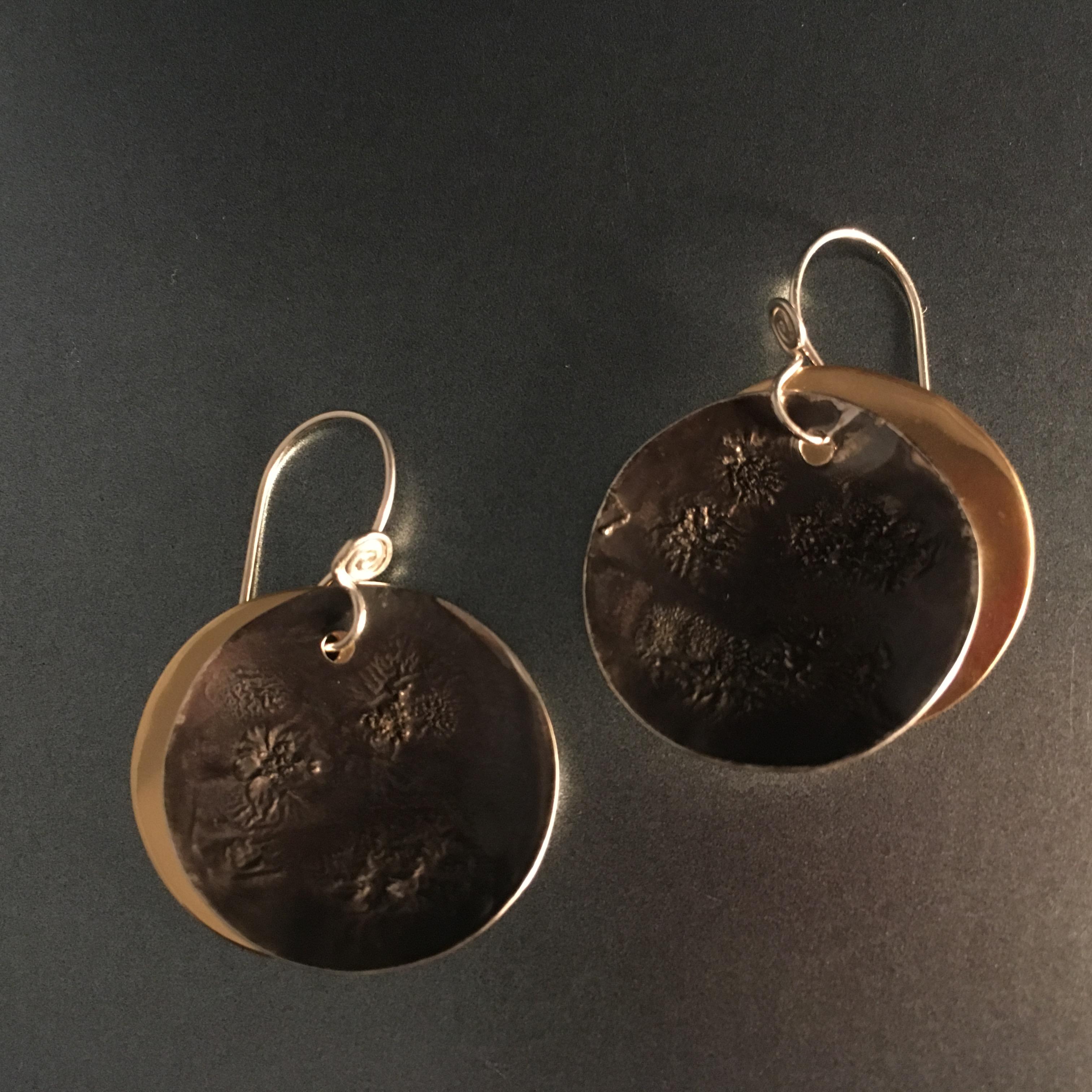 Solar Eclipse Earrings, small$38
