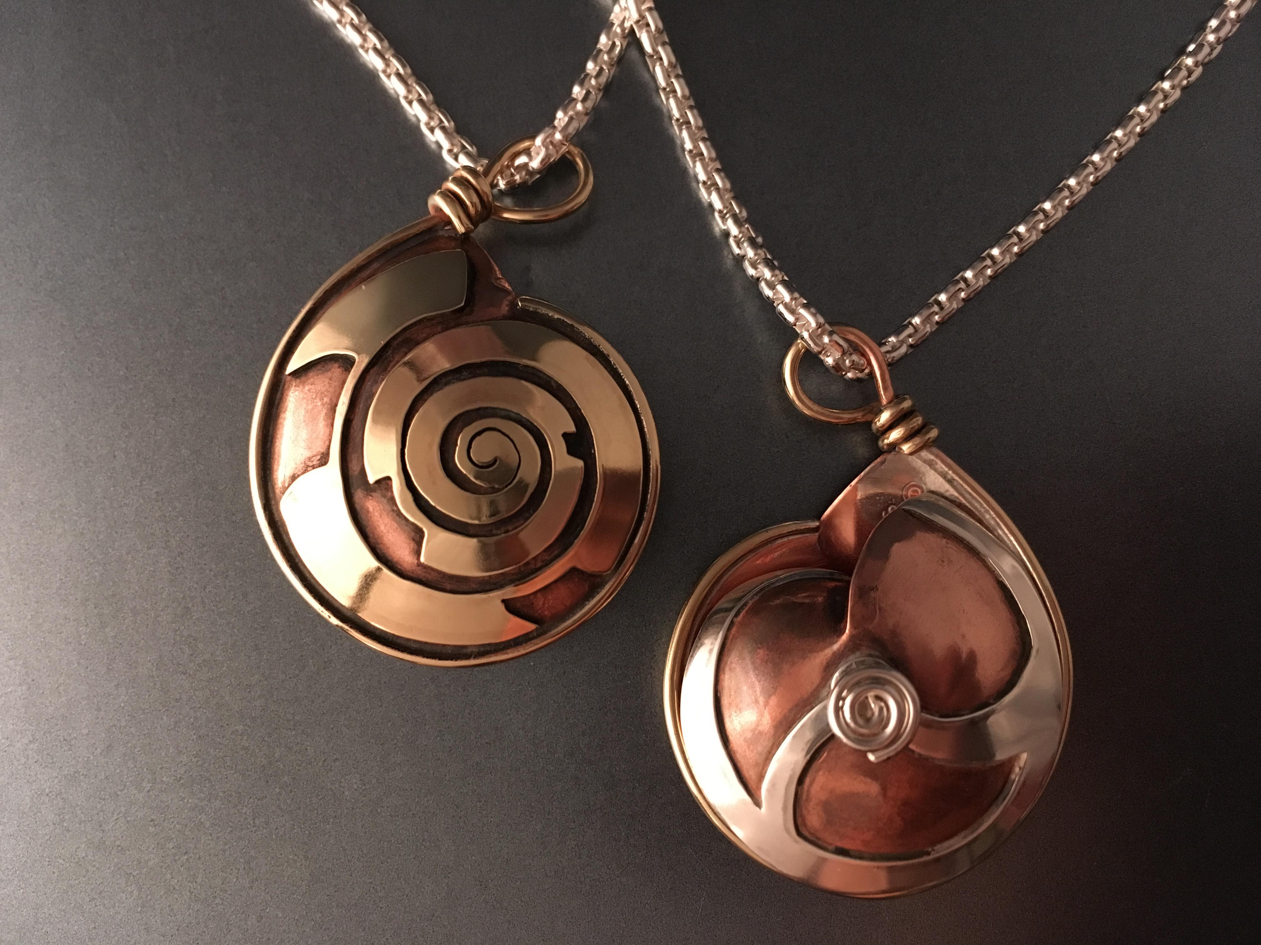 snail shell pendant