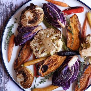 סימפוניה צבעונית של ירקות בתנור