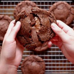 עוגיות שוקולד ממולאות בנוטלה