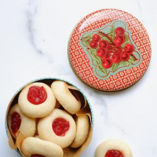 עוגיות אגודל עם ריבה